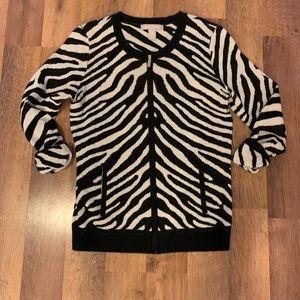 Banana Republic Zebra Zip Sweater